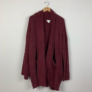 NWOT Ava & Viv Maroon Red Cardigan Sweater 4X